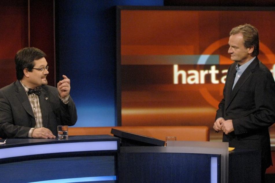 """Im Fernsehen tritt der Republikaner immer wieder als Experte auf. Hier war er bei """"Hart aber Fair""""."""