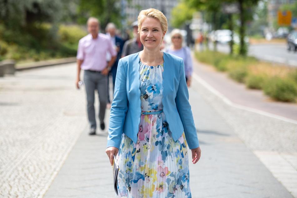 Manuela Schwesig (47, SPD), Ministerpräsidentin von Mecklenburg-Vorpommern.