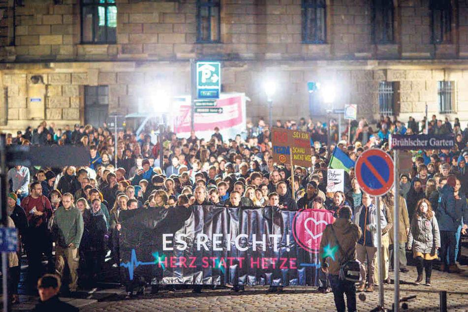 """Das Bündnis """"Herz statt Hetze"""" will am Montag auf die Straße gehen."""
