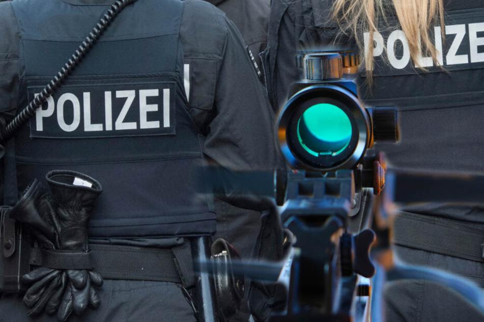 Polizei rammt Wohnungstür auf, dahinter wartet ein Mann mit einer Armbrust