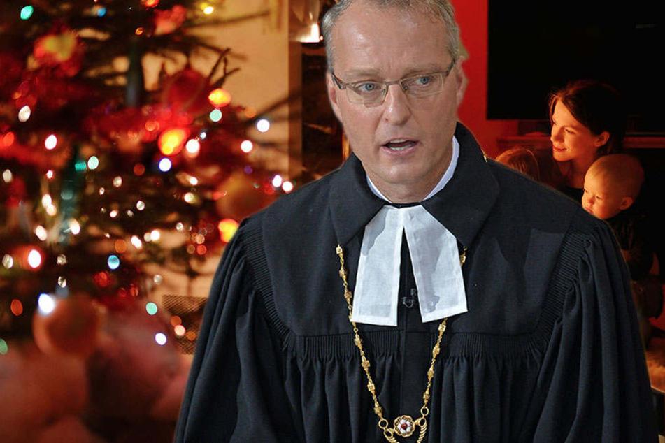 Der Sächsische Landesbischof Carsten Rentzing hofft, dass die Menschen an Weihnachten nicht nur an sich denken.