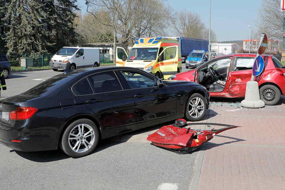 Zwei Verletzte bei schwerem Unfall auf B169