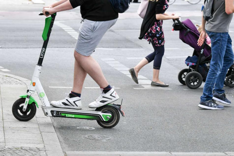 E-Scooter-Fahrer betrunken unterwegs