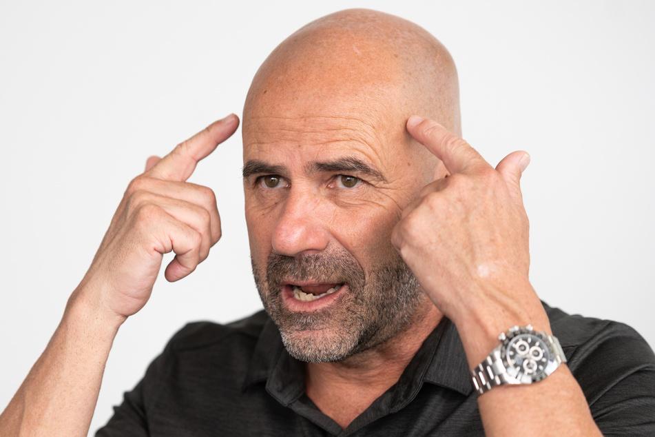 Leverkusens Trainer Peter Bosz fürchtet sich nicht vor dem Gegner Inter Mailand. (Archivfoto)
