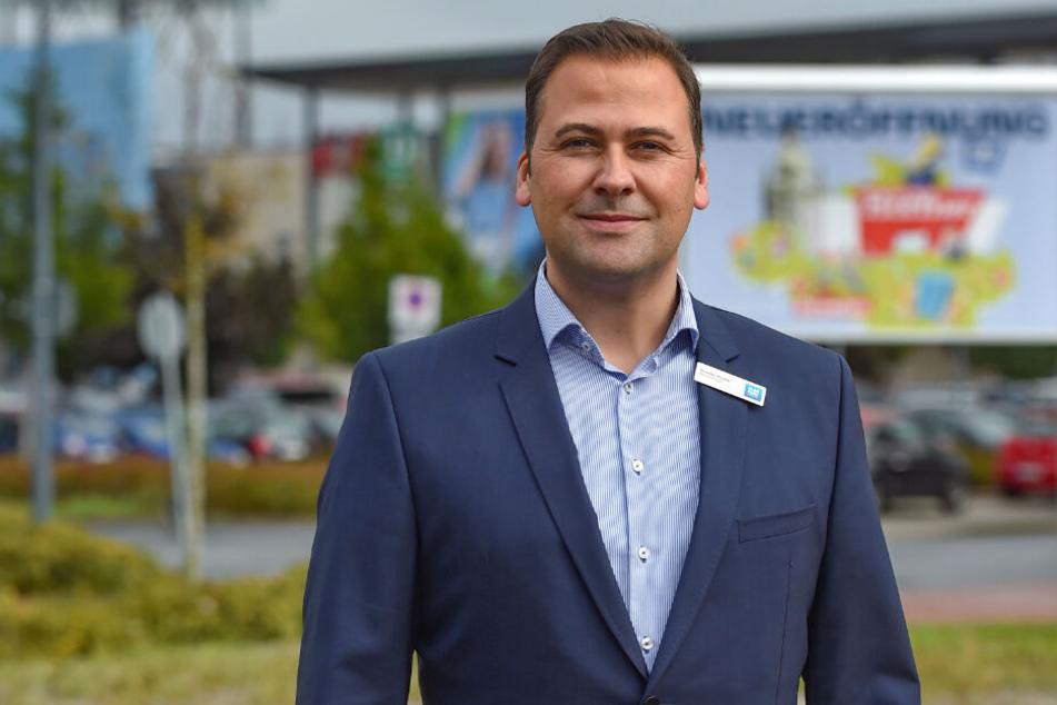 Geht offen mit seinem Kundenzähl-System um: Elbepark-Chef Gordon Knabe versichert, dass keine Bilder gespeichert werden.