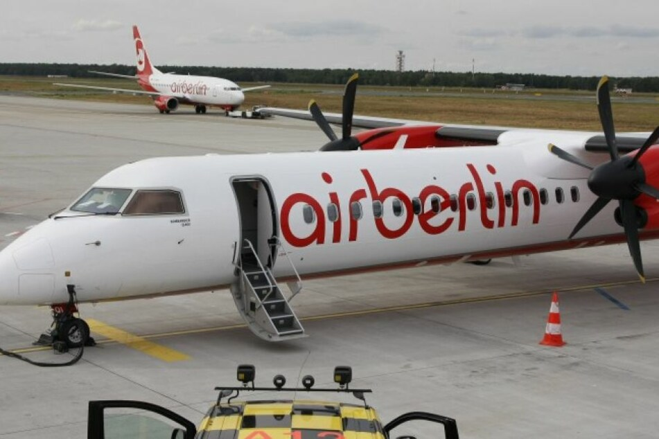 Eine Propellermaschine von Air Berlin musste notlanden. (Symbolbild)