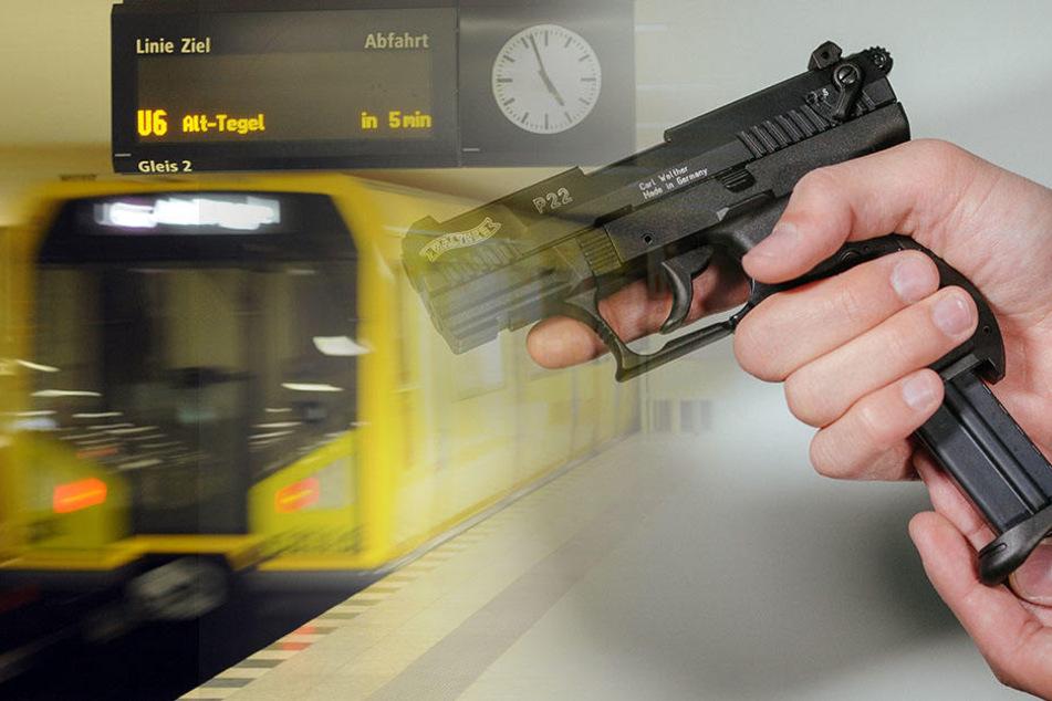 Rentner bedroht junge Frau in der U-Bahn