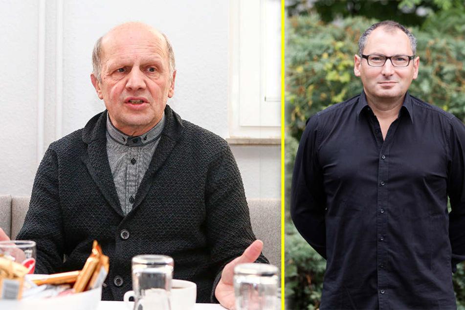 Manager Wolf-Rüdiger Ziegenbalg (l.) und Präsident Thomas Löwe (r.) trafen sich in Berlin mit dem Chef des Lok-Hauptsponsors, Franz-Josef Wernze, zu einem Finanzgespräch.