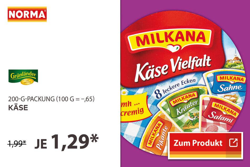 Schmelzkäse für 1,29 Euro