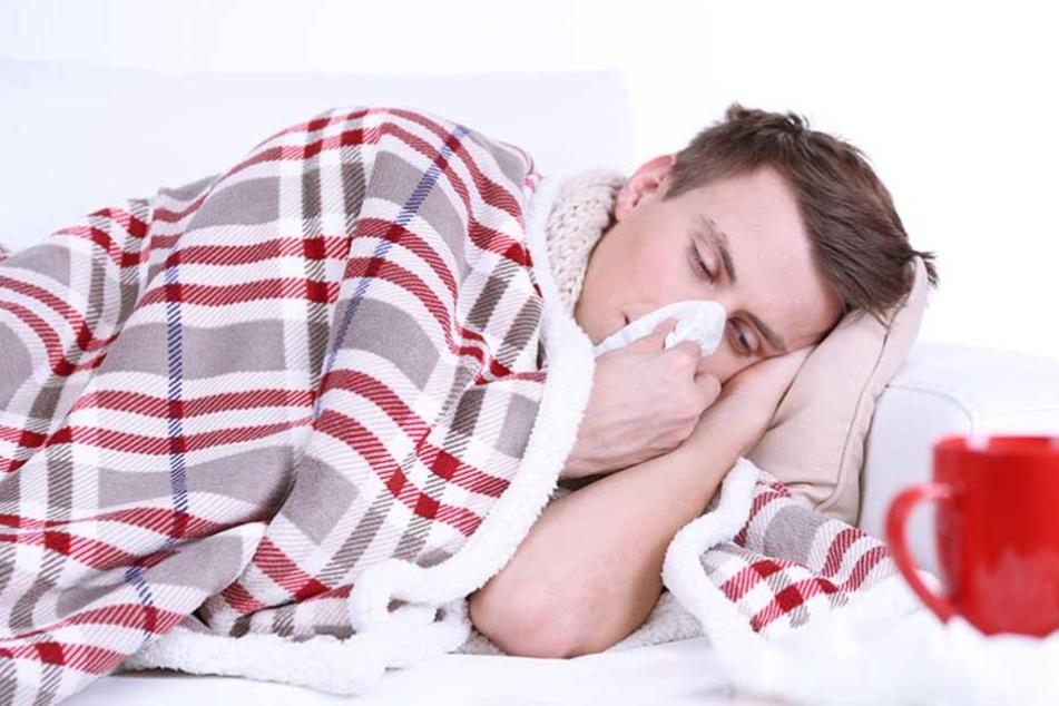 Für viele Männer ist bereits ein Schnupfen eine Nahtod-Erfahrung.