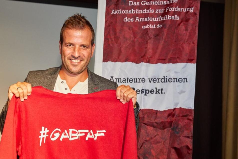 Van der Vaart ist Botschafter des gemeinsamen Aktionsbündnisses zur Förderung vom Amateurfußball.
