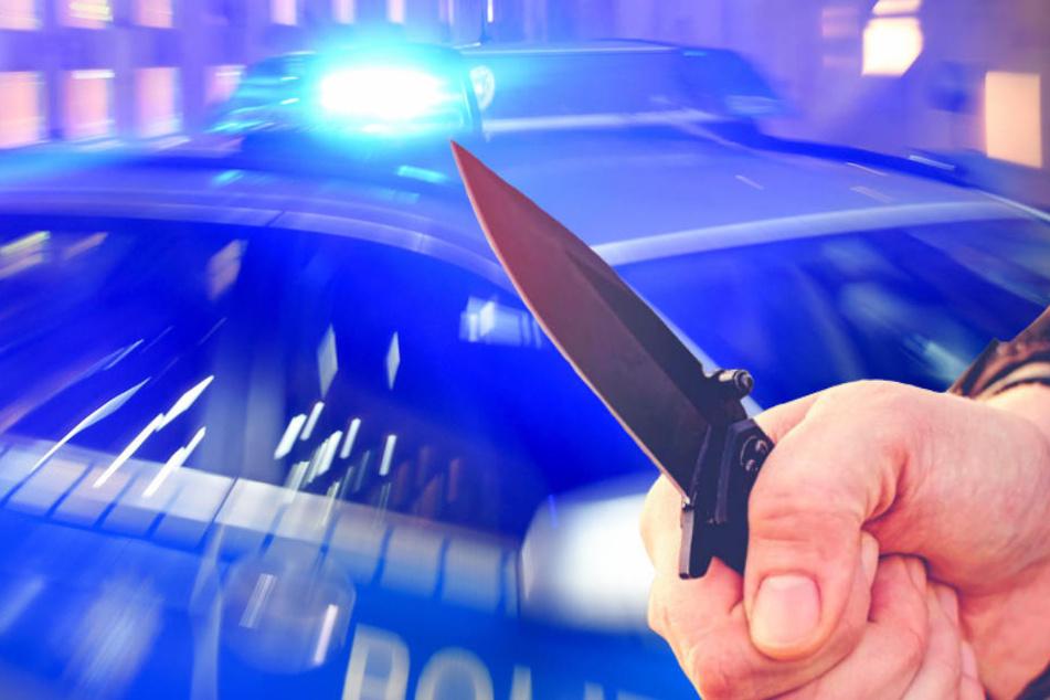 Mit einem Messer verletzte ein Mann seinen Vater in Berlin-Lichtenrade schwer. (Bildmontage)