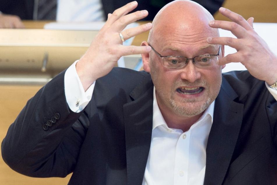 Zum Haareraufen findet Enrico Stange, Innenpolitik-Experte der Linken-Landtagsfraktion, die Personalpolitik bei Sachsens Polizeiführung.