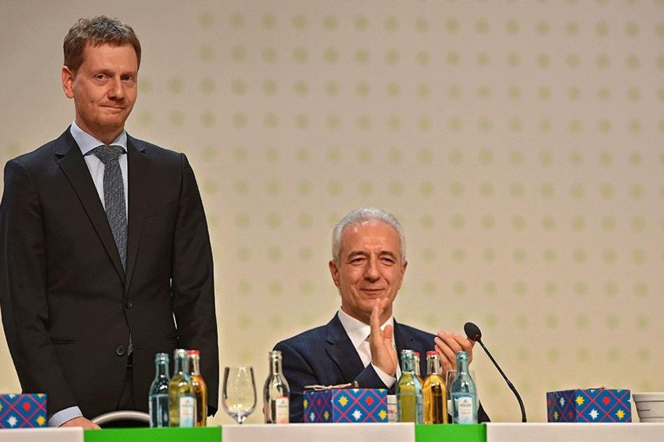 Ist selbst gespannt auf die Abstimmung: Michael Kretschmer (42, CDU).