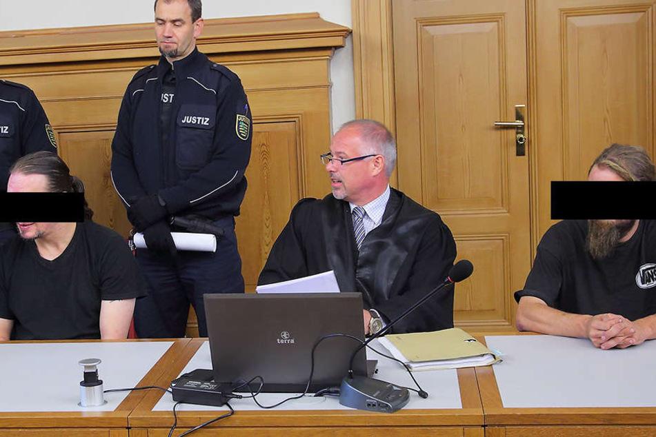 Verurteilt: Christian G. (39, links) und Clemens E. (28, rechts) müssen für mehrere Jahre in Haft.