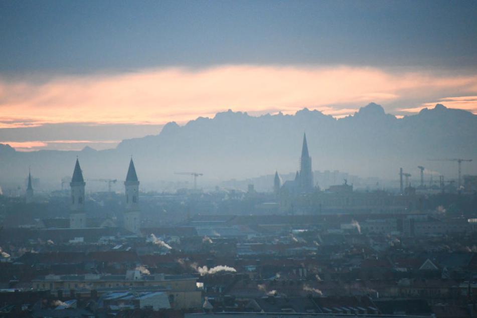 Heute Morgen konnte man die Berge von München aus sehen.