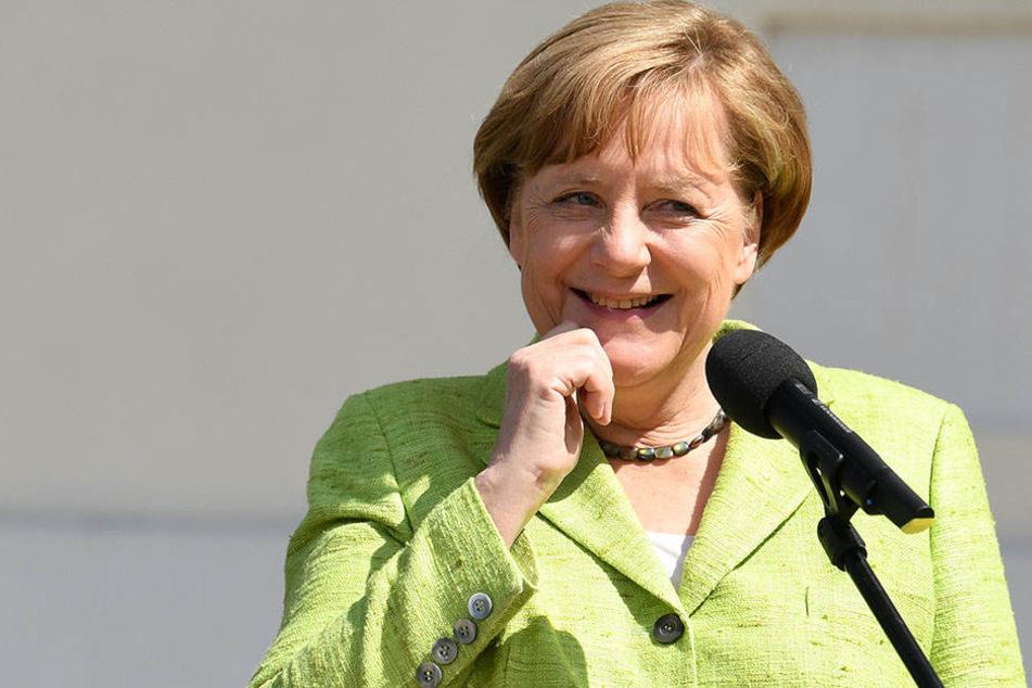 Hätte allen Grund zu strahlen: Angela Merkel (CDU) würden 50 Prozent der Wahlberechtigten in Brandenburg wieder zur Kanzlerin wählen.