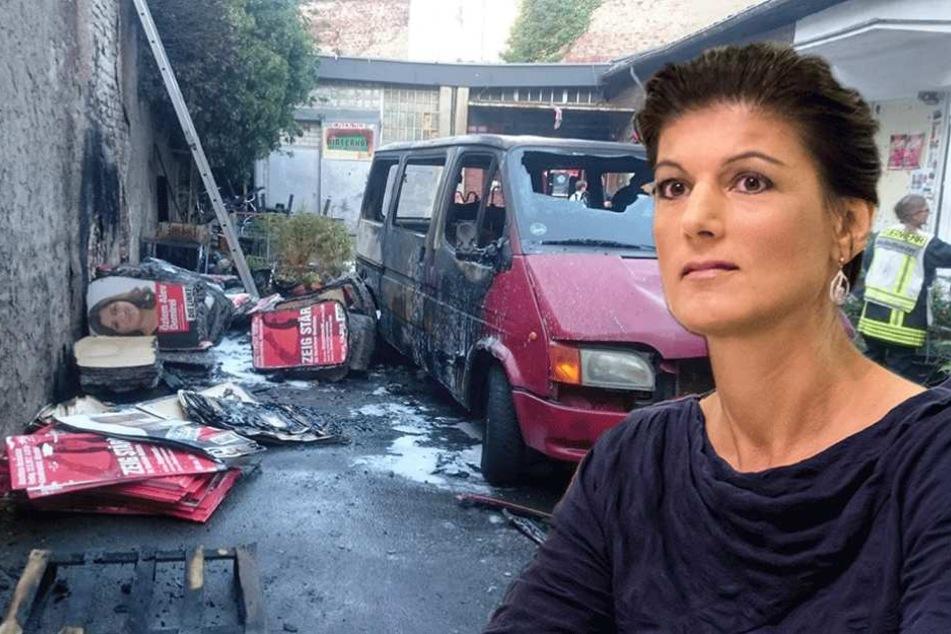 Feuer am Wahlkreisbüro von Sarah Wagenknecht