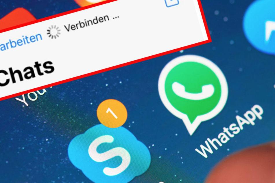 Die User können sich nicht mehr mit dem Server verbinden. Whatsapp ist down.