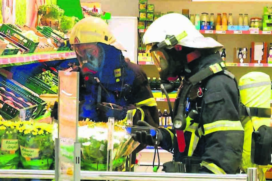 Großeinsatz für die Polizei am 22. August in einem Supermarkt in Görlitz.