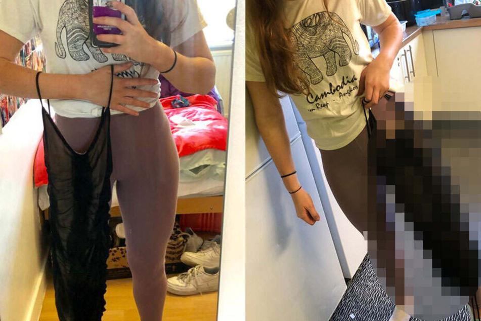 Studentin (21) probiert neues Kleid an und kann nicht fassen, wie es aussieht