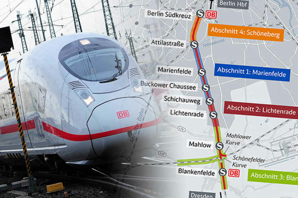 """Baubeginn noch in diesem Jahr: """"Dresdner Bahn"""" rollt bald an"""