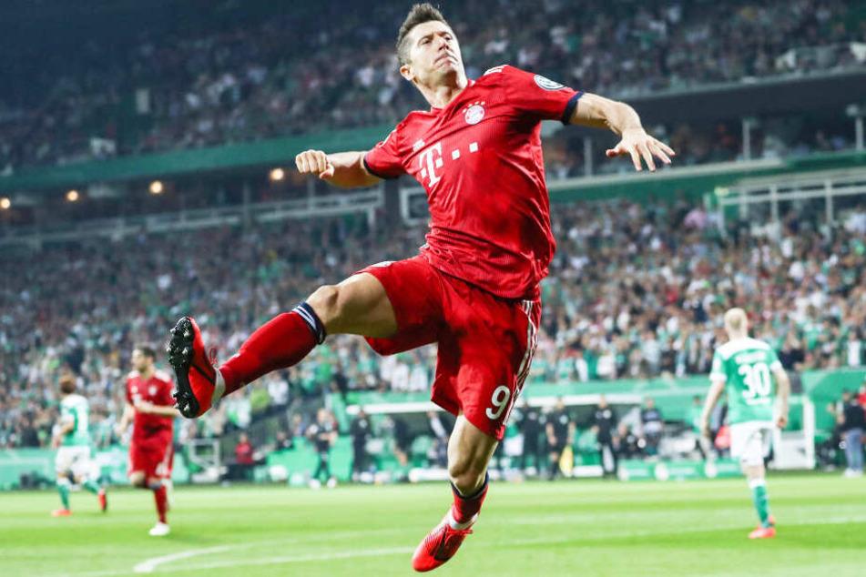 Robert Lewandowski und der FC Bayern München wollen einmal mehr das Double gewinnen.