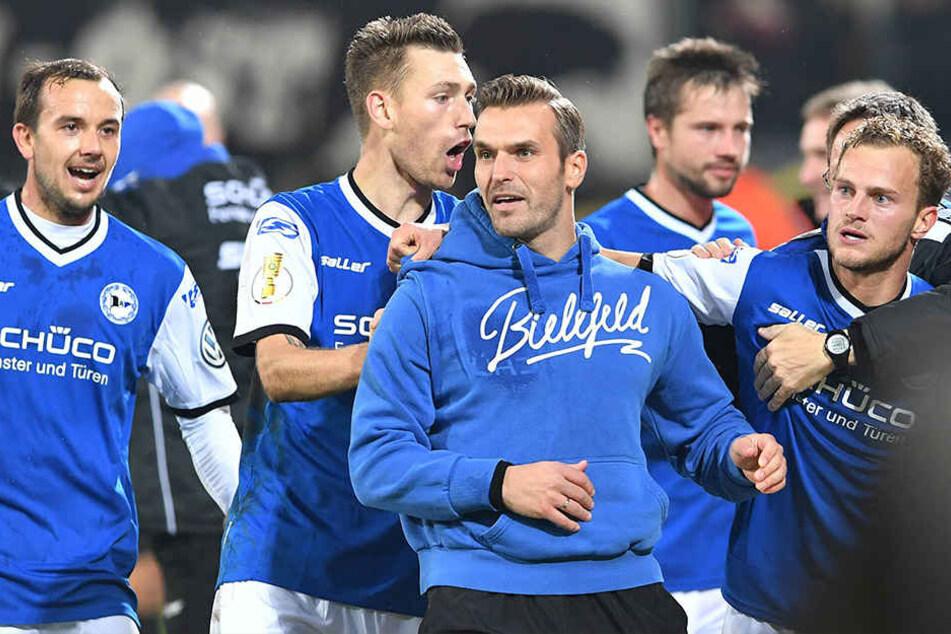 Dieses Spiel leitete die Wende ein: Der DSC gewann unter Interimstrainer Rump die zweite Runde des DFB-Pokals gegen Dynamo Dresden mit 1:0.