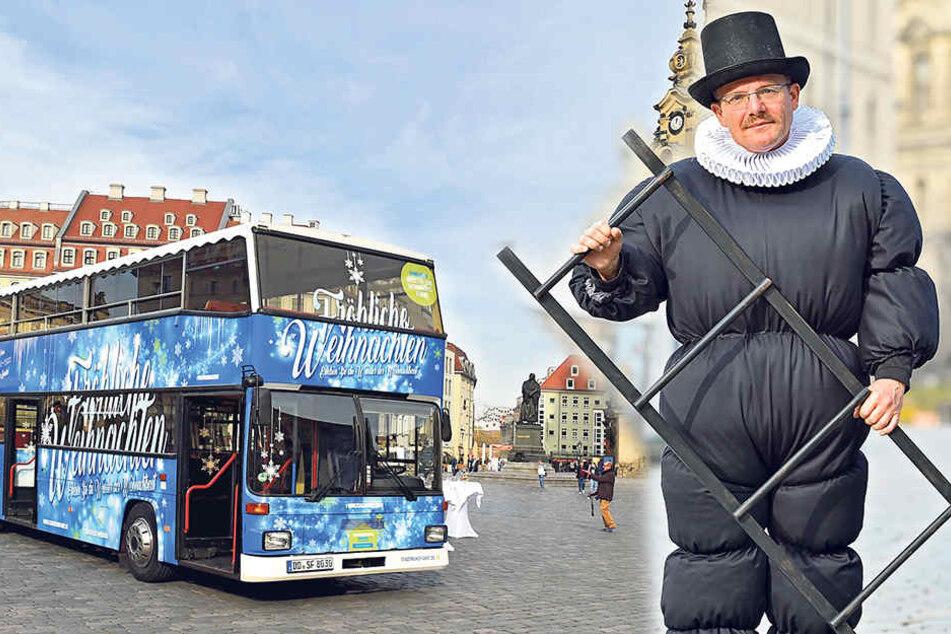 Advents-Spektakel! Der Pflaumentoffel kommt per Weihnachtsbus