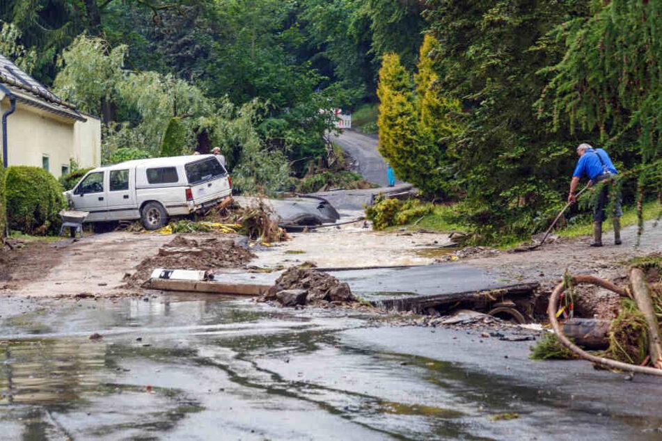 Nach Unwettern in Sachsen: Über 500.000 Euro Nothilfe beschlossen