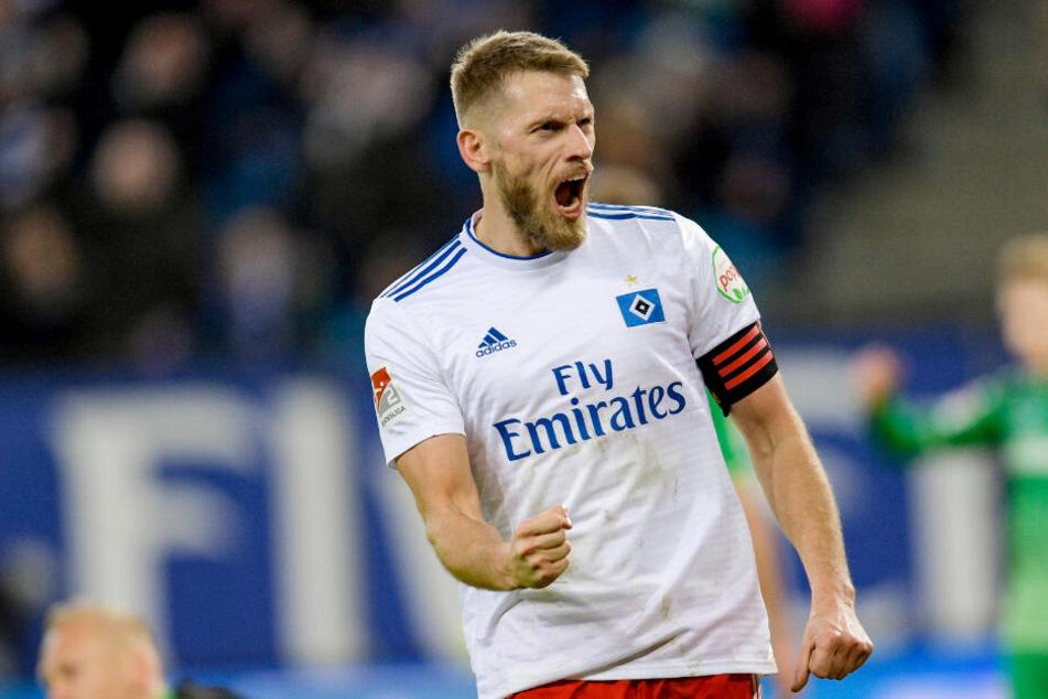 Aaron Hunt schoss das 1:0 für den Hamburger SV. (Archivbild)