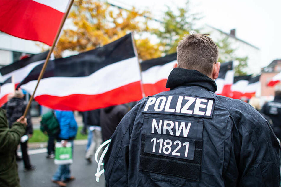 """""""Die Rechte"""" demonstrierte nach dem Lübcke-Mord in Kassel (Symbolbild)."""