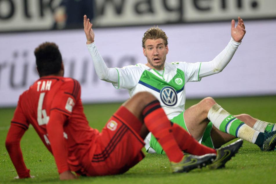 Von 2014 bis 2016 spielte Nicklas Bendtner für den VfL Wolfsburg.