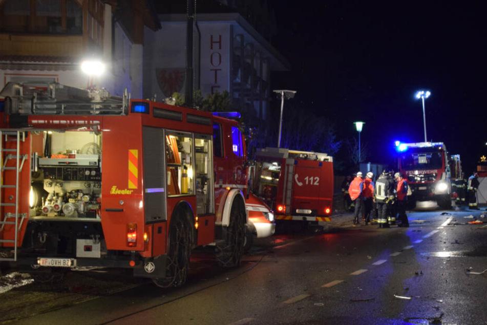 Ein Großaufgebot an Rettungssanitätern war schnell vor Ort.