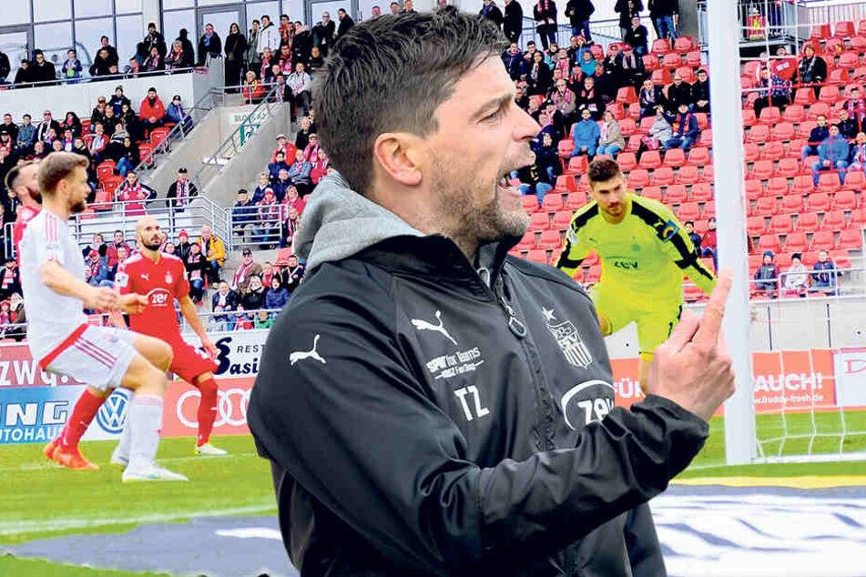 FSV-Coach Ziegner war nach den 90 Minuten enttäuscht  und haderte mit seiner Mannschaft.