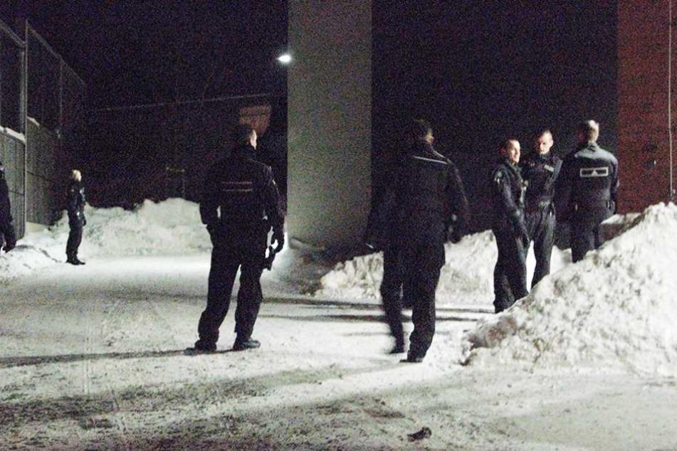 Polizisten durchsuchten das Geländen, bis ihnen der Einbrecher in direkt in die Arme lief.