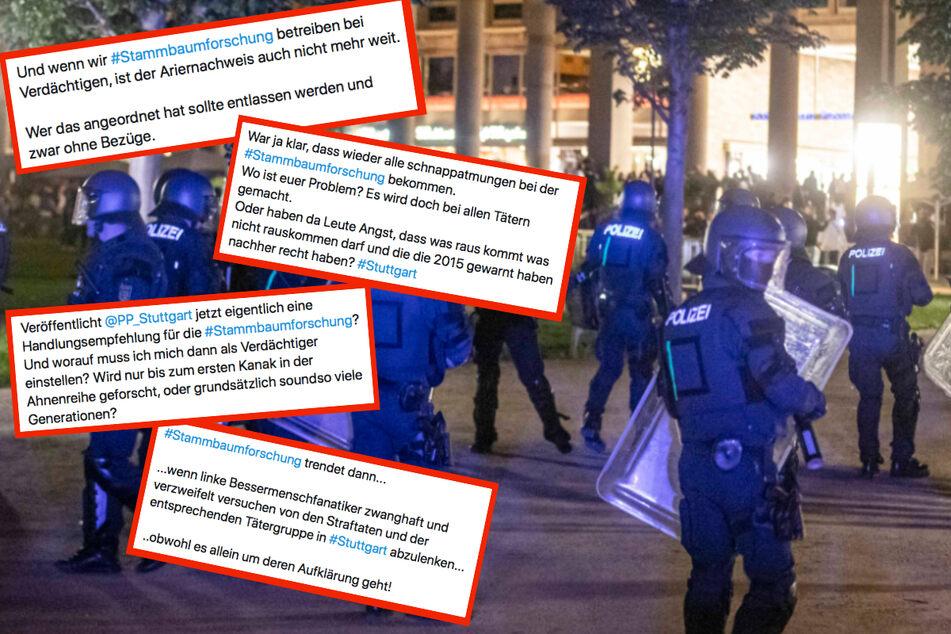 Polizei durchforstet Stammbäume der Stuttgart-Randalierer: Shitstorm auf Twitter