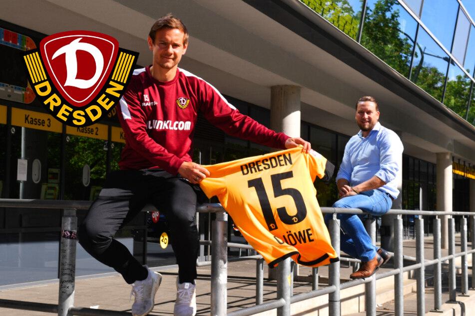 Dynamo-Profi Löwe überreicht sein 500-Euro-Trikot an strahlenden Sieger!
