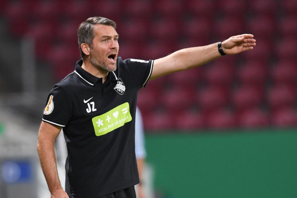Der Noch-Havelser Trainer Jan Zimmermann (41) ist an der Seitenlinie in Aktion. Nächste Saison geht es für ihn zu Hannover 96.