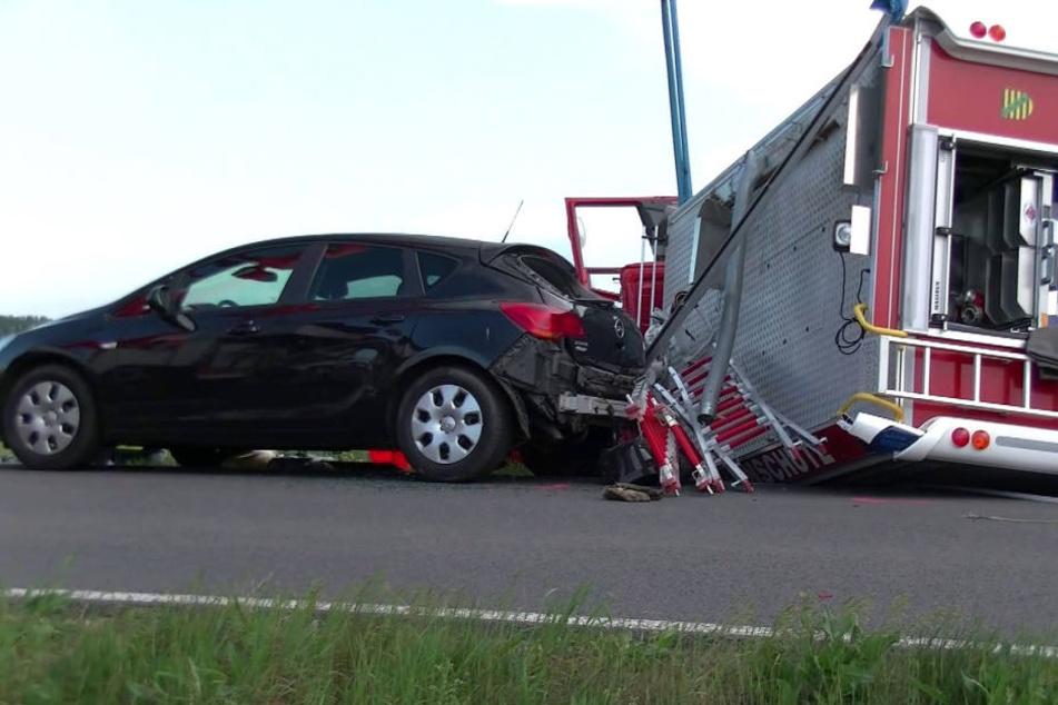 Am Freitag verunglückte ein Fahrzeug der Freiwilligen Feuerwehr Bad Düben schwer.