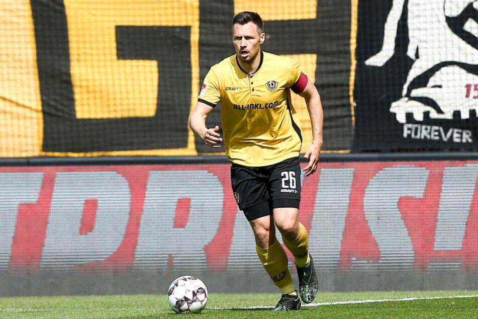 Dynamos Abwehrspieler Sören Gonther wechselt mit sofortiger Wirkung ins Erzgebirge.
