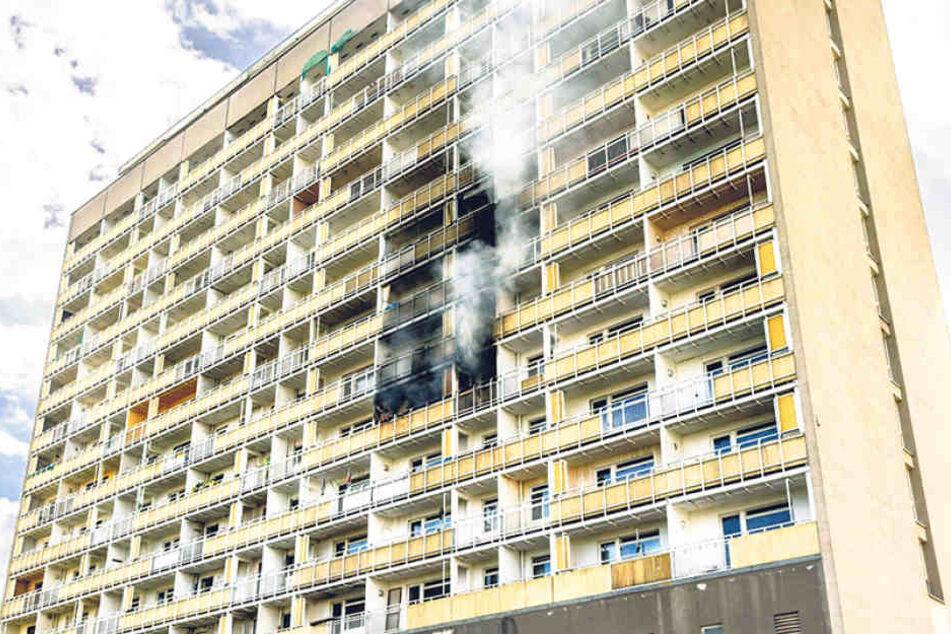 Dresdens Hochhäuser wie hier am Pirnaischen Platz sind laut Stadt bei Feuer  relativ sicher. Die Fassaden sind feuerfest, greifen nicht auf andere Stockwerke  über.