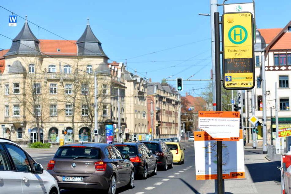 Polizeieinsatz am Trachenberger Platz (Symbolbild)