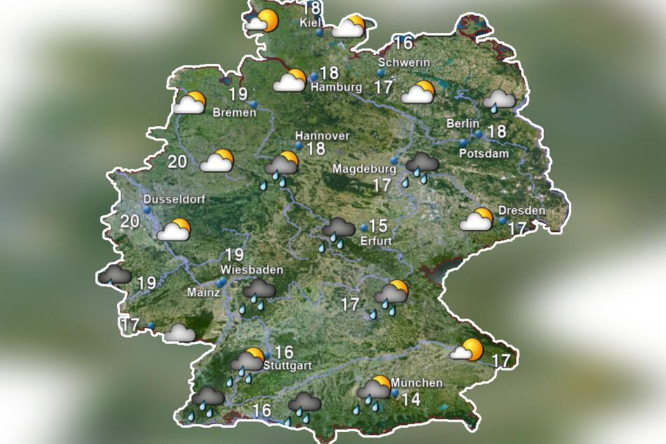 Das Augustende stellt sich in Deutschland noch einmal kühl und regnerisch dar. Ab September wird es wieder wärmer.