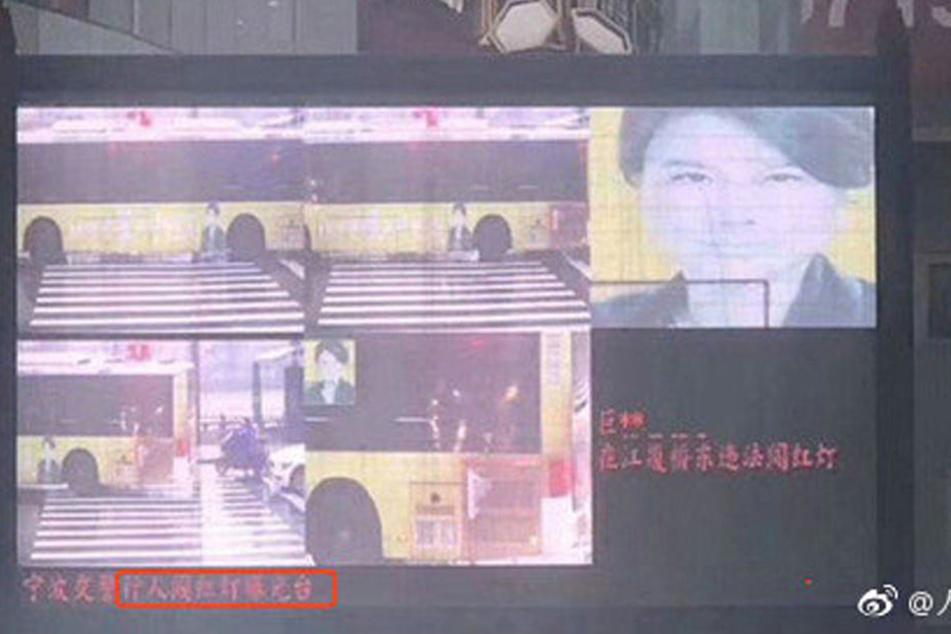 Die Werbung auf einem Bus wurde als Fußgänger identifiziert.