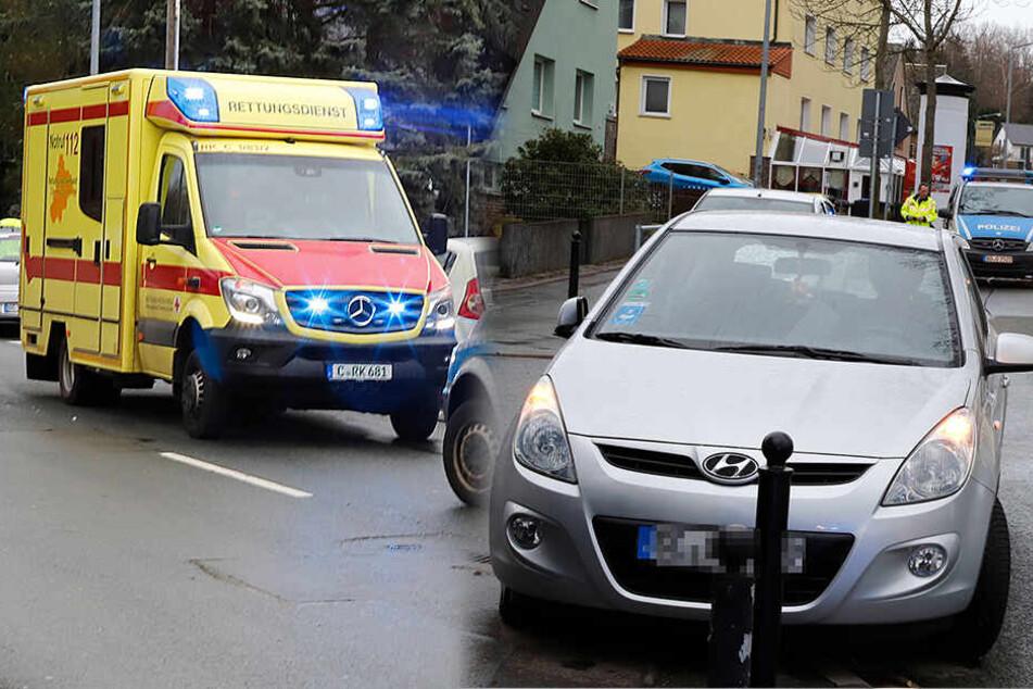 Fußgänger von Hyundai erfasst und schwer verletzt