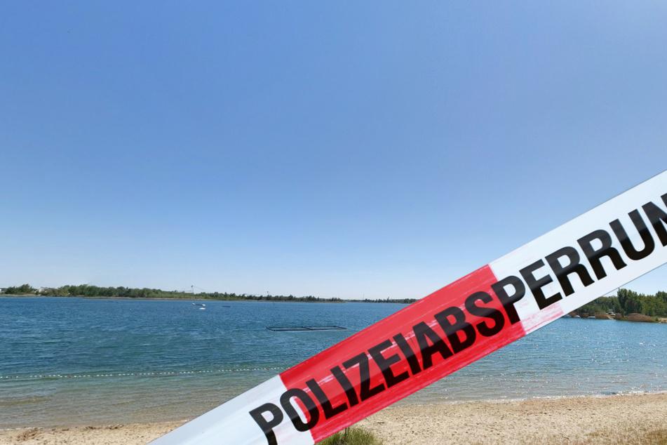 Die Dame hatte versucht, zu einer kleinen Insel im Kiessandtagebau zu schwimmen. (Symbolbild)