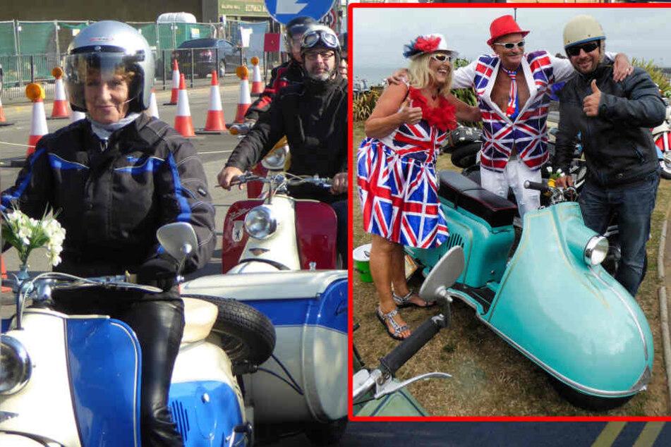 Erzgebirgler mischen Rollertreffen in England auf