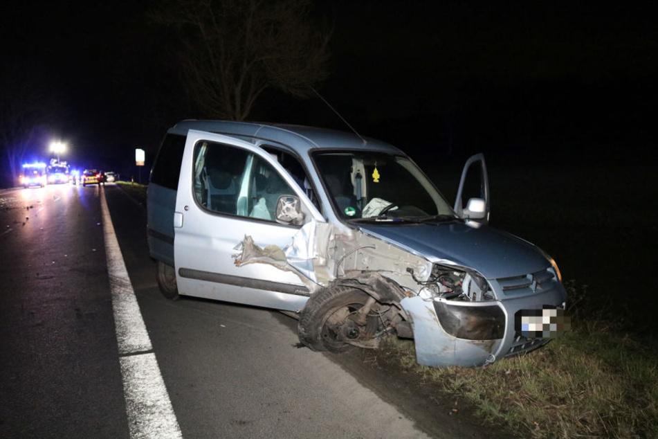 Das Auto des Verursacher landete im Straßengraben.