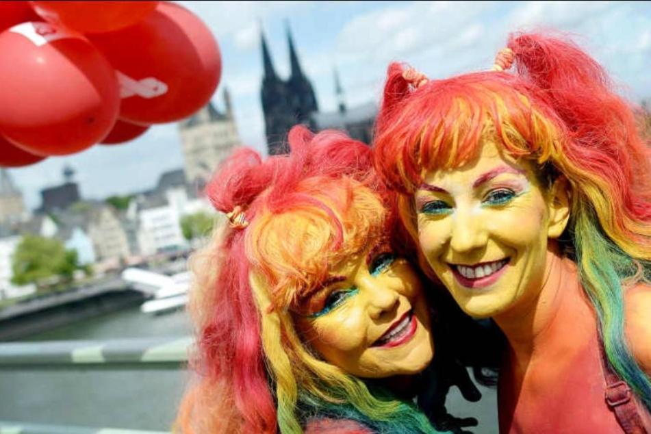 Zwei Teilnehmerinnen des CSD 2018 (Archivbild).